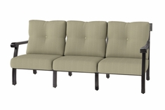The Cadence Collection Commercial Cast Aluminum Sofa