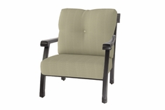 The Cadence Collection Commercial Cast Aluminum Stationary Club Chair