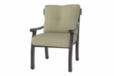 The Cadence Collection Commercial Cast Aluminum Stationary Dining Chair