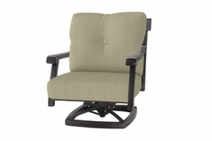 The Cadence Collection Commercial Cast Aluminum Swivel Club Chair