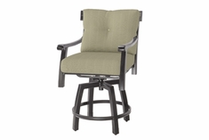 The Cadence Collection Commercial Cast Aluminum Swivel Counter Height Chair