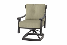The Cadence Collection Commercial Cast Aluminum Swivel Dining Chair