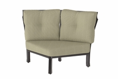 The Cadence Collection Commercial Cast Aluminum Two Back Corner Chair