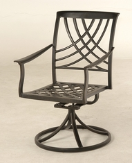 The Columbia Collection Commercial Cast Aluminum Swivel Dining Chair