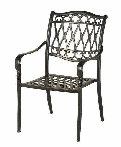 Charmant The Carrington Collection Commercial Cast Aluminum Stationary Dining Chair
