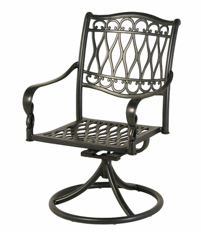 The Carrington Collection Commercial Cast Aluminum Swivel Dining Chair