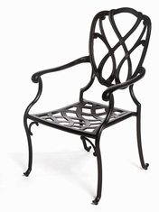 The Casi Collection Commercial Cast Aluminum Stationary Dining Chair