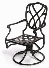 The Casi Collection Commercial Cast Aluminum Swivel Dining Chair