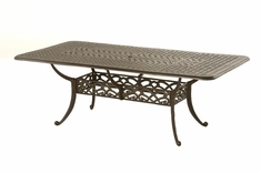 The Caprice Collection Commercial Cast Aluminum Rectnagle Dining Table