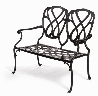 The Casi Collection Commercial Cast Aluminum Bench