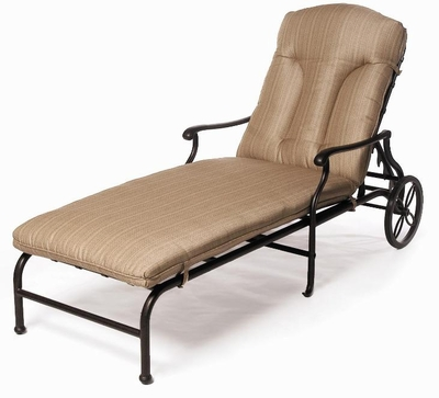 The Casi Collection Commercial Cast Aluminum Chaise Lounge