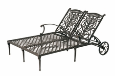 The Cayman Collection Commercial Cast Aluminum Double Chaise Lounge