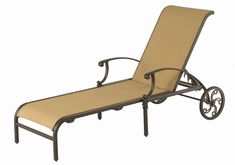 The Cayman Collection Commercial Cast Aluminum Sling Chaise Lounge