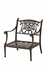 The Cayman Collection Commercial Cast Aluminum Stationary Club Chair