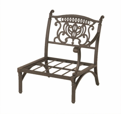 The Cayman Collection Commercial Cast Aluminum Stationary Left Club Chair