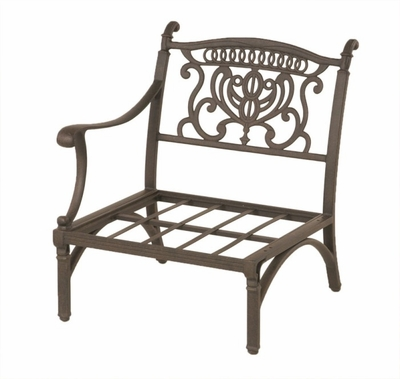The Cayman Collection Commercial Cast Aluminum Stationary Right Club Chair