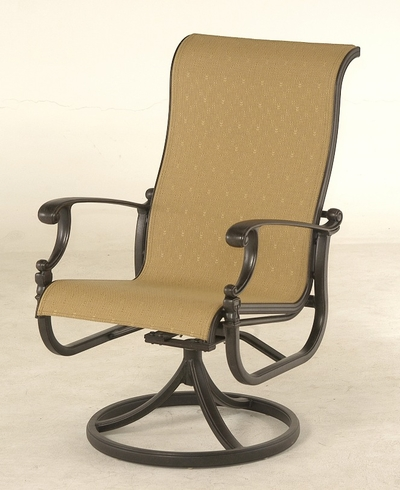 The Cayman Collection Commercial Cast Aluminum Swivel Dining Chair