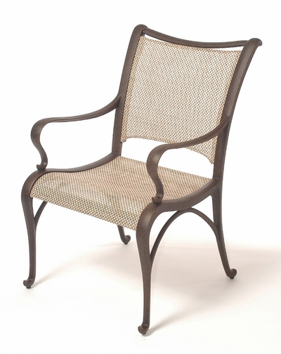 The Manhattan Collection Commercial Cast Aluminum Sling Stationary Dining Chair