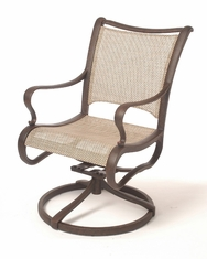 The Manhattan Collection Commercial Cast Aluminum Sling Swivel Dining Chair