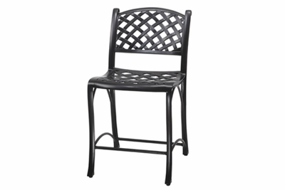 The Chaya Collection Commercial Cast Aluminum Stationary Bar Height Chair