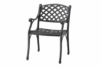 The Chaya Collection Commercial Cast Aluminum Stationary Dining Chair