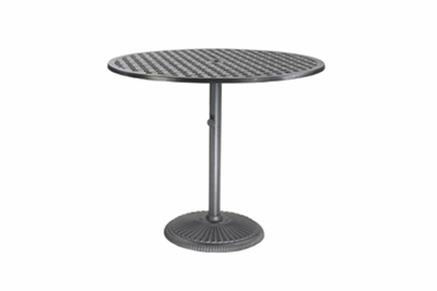 "The Claret Collection Commercial Cast Aluminum 36"" Round Pedestal Bar Height Table"