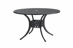"The Claret Collection Commercial Cast Aluminum 42"" Round Dining Table"