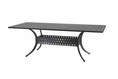 "The Claret Collection Commercial Cast Aluminum 42"" x 72"" Rectangle Dining Table"