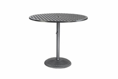 "The Claret Collection Commercial Cast Aluminum 48"" Round Pedestal Bar Height Table"