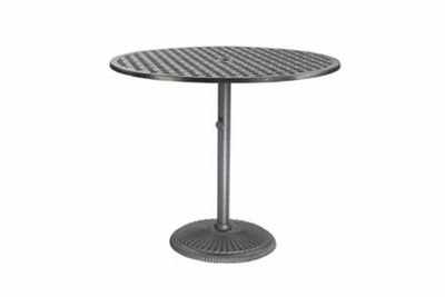 """The Claret Collection Commercial Cast Aluminum 48"""" Round Pedestal Counter Height Table"""