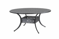 "The Claret Collection Commercial Cast Aluminum 60"" Round Dining Table"