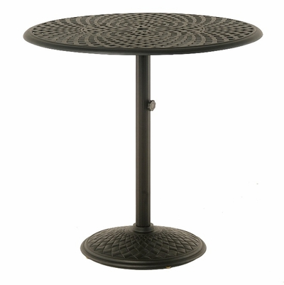 "The Columbia Collection Commercial Cast Aluminum 42"" Round Pedestal Bar Height Table"
