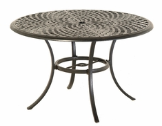 "The Columbia Collection Commercial Cast Aluminum 48"" Round Dining Table"