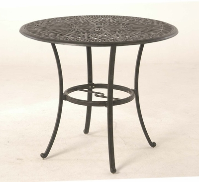 """The Del Mar Collection Commercial Cast Aluminum 48"""" Round Pedestal Bar Height Table"""