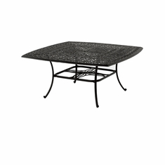 "The Del Mar Collection Commercial Cast Aluminum 64"" Square Dining Table"