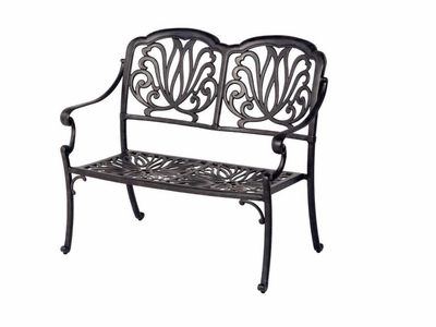 The Del Mar Collection Commercial Cast Aluminum Loveseat