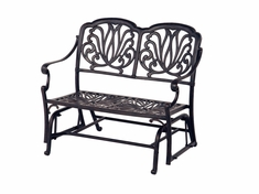 The Del Mar Collection Commercial Cast Aluminum Loveseat Glider