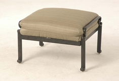 The Del Mar Collection Commercial Cast Aluminum Ottoman