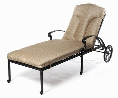 The Del Mar Collection Commercial Cast Aluminum Single Chaise Lounge