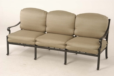 The Del Mar Collection Commercial Cast Aluminum Sofa