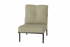 The Devonte Collection Commercial Cast Aluminum Armless Stationary Club Chair