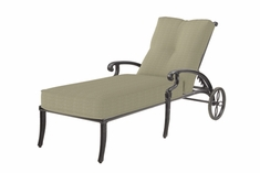 The Devonte Collection Commercial Cast Aluminum Chaise Lounge