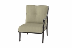 The Devonte Collection Commercial Cast Aluminum Left Arm Stationary Club Chair