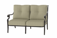 The Devonte Collection Commercial Cast Aluminum Loveseat