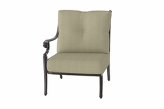 The Devonte Collection Commercial Cast Aluminum Right Arm Stationary Club Chair
