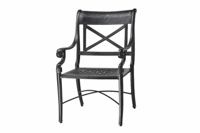 The Devonte Collection Commercial Cast Aluminum Stationary Dining Chair