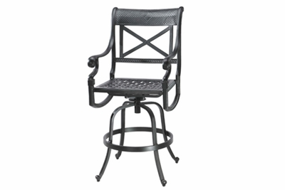 The Devonte Collection Commercial Cast Aluminum Swivel Bar Height Chair