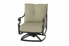 The Devonte Collection Commercial Cast Aluminum Swivel Club Chair