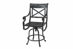 The Devonte Collection Commercial Cast Aluminum Swivel Counter Height Chair