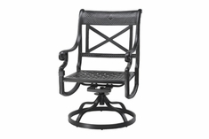The Devonte Collection Commercial Cast Aluminum Swivel Dining Chair